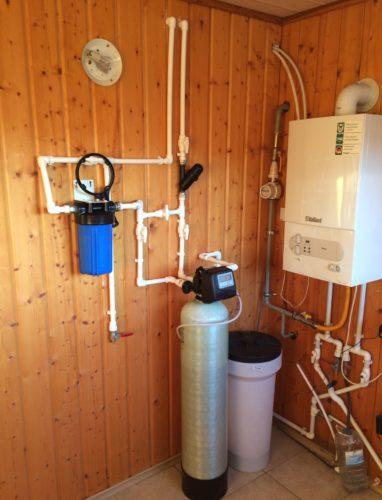 Монтаж смягчителя воды в бане Чехов